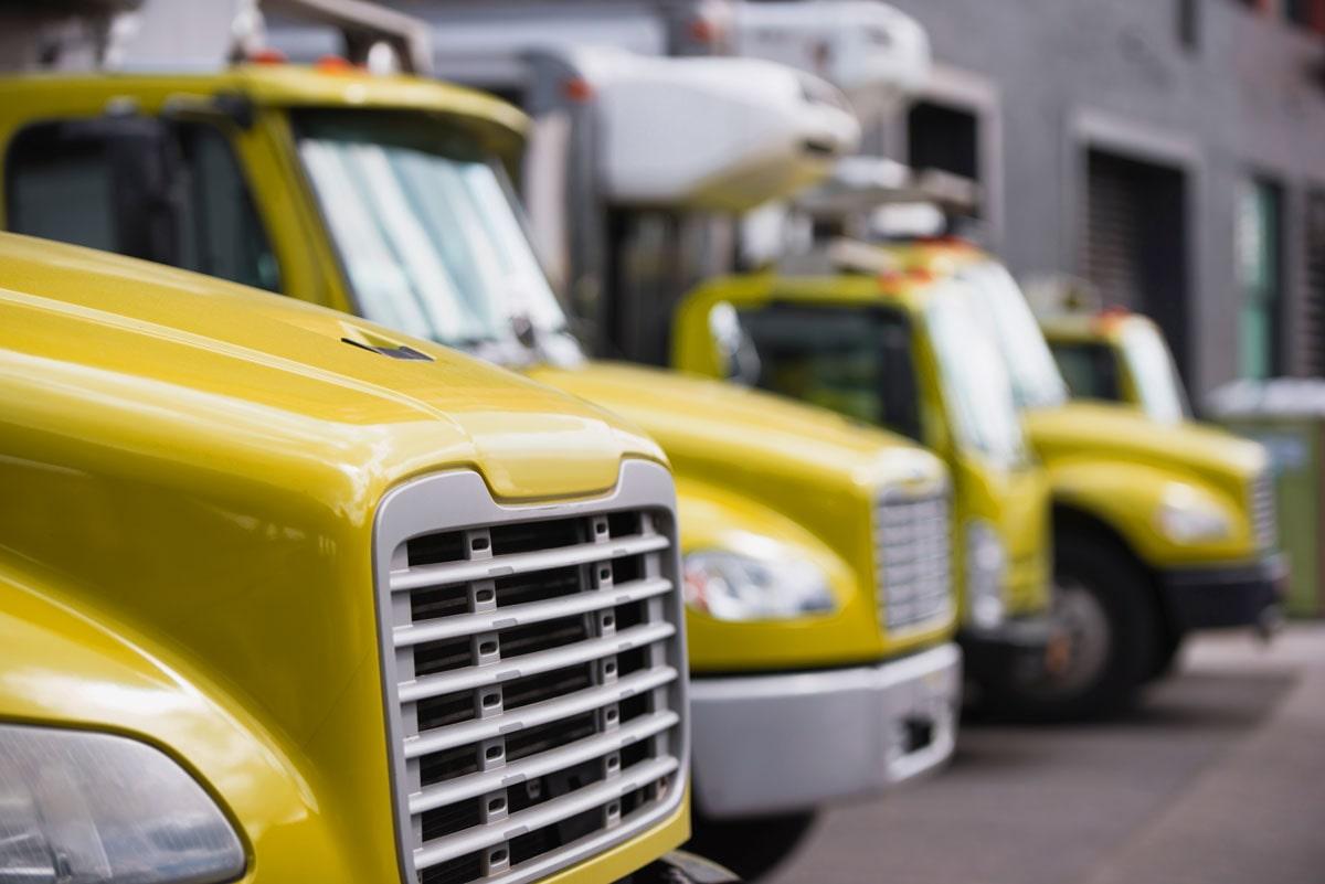 Yellow Fleet Trucks