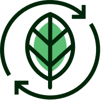 Icon with Leaf